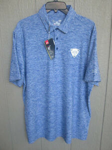 NEW BLUE UNDER ARMOUR POLO GOLF SHIRT LOOSE FIT SIZE LARGE AT&T BYRON NELSON PGA