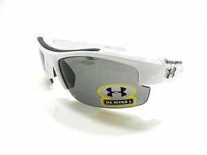 Under Armour Sunglasses NITRO L WHITE YOUTH FIT New Authentic