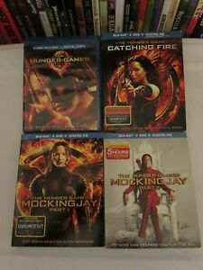 The Hunger Games: Mockingjay Part 1 & 2(NEW) CATCHING FIRE  BLU RAY  + T-SHIRT