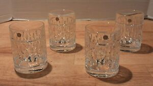 Set 4 Ralph Lauren ASTON Double Old Fashioned DOF Lead Crystal Bar Drink Glasses
