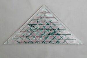 Nifty Notions 4quot; Half Square and 4quot; Quarter Square Rulers Cut for the Cure 2pc $17.99