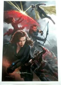 NEW WonderCon 2017 SIGNED Andy Park AVENGERS Lithograph $89.69
