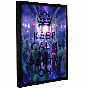 Latitude Run Keep Calm And Party On Framed Textual Art on Wrapped Canvas