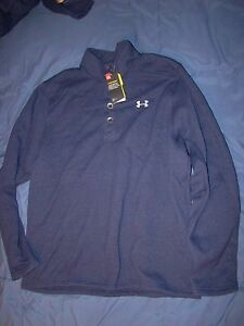 NWT MENS UNDER ARMOUR LOOSE FIT STORM 1 FLEECE PULLOVER SWEATSHIRT NAVY BLUE XXL