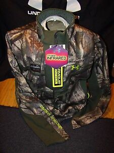 UNDER ARMOUR MOSSY OAK TREESTAND CAMOUFLAGE INFRARED SCENT CONTROL JACKET XXL !!