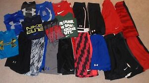 Youth Boys Medium 10-12 Under Armour Nike Shorts T-shirts Tops Sets Outfits Lot