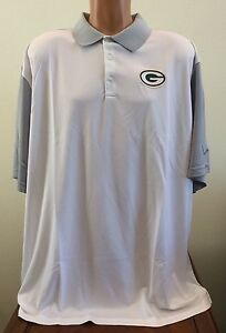 Nike Mens Size 4XL White Short Sleeve Dri-FIT Polo Shirt NFL Green Bay Packers