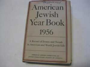 1956 American Jewish year book Record of Events English