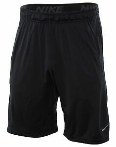 Nike Dry 9 Inch Short Mens 742517-010 Black Dri-Fit Training Shorts Size L