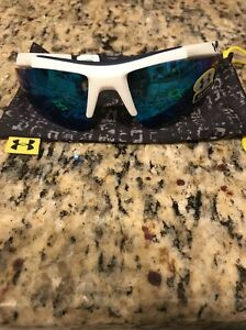 Under Armour Core Performance Sunglasses WhiteBlue New