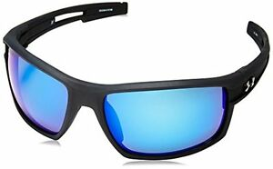Under Armour Captain Satin Black Frame with Black Rubber and WWP-ANSI Gray Lens