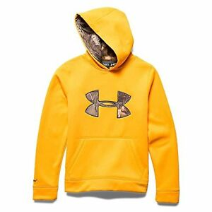 Under Armour Youth Strom Caliber Hoody Yuzu Orange XL New