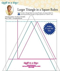 Larger Triangle in a Square Rulers from Quilt in a Day # 2036 $18.95