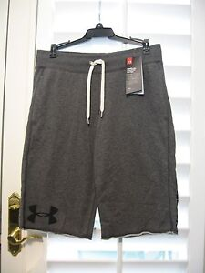 UNDER ARMOUR FRENCH TERRY BOY SHORTS   GREY  STYLE # 1271694    size SMALL