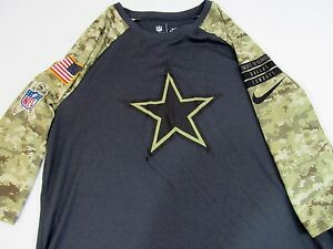 Youth Nike NFL Dallas Cowboys Camouflage Dry-Fit Cancer Logo Shirt New XL