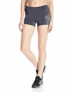 New ASICS Women's Team Performance Volleyball Shorts Steel Grey Large