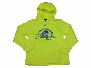 Delaware Fightin' Blue Hens Under Armour YOUTH Neon Yellow Hoodie Sweatshirt (M)