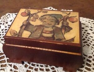 MAPSA Music Box ~ Swiss Musical Movement ~ Hummel Boy ~ Somewhere My Love