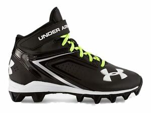 Under Armour YOUTH Crusher RM Jr Black & White Football Shoes Cleats