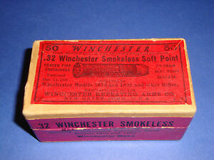 1913 WINCHESTER .32 SMOKELESS SOFT POINT CARTRIDGE BOX AMMO BOXES