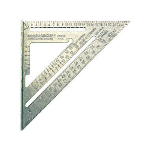Swanson 10 in. L x 1 in. H Aluminum Speed Square Silver $16.85