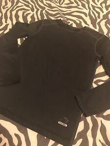 Boys Youth Starter Dry Fit Long Sleeve Shirt Size 8 Medium Black