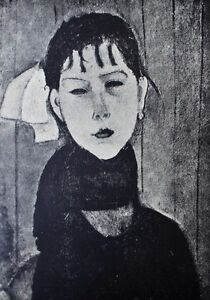 Amedeo Modigliani Lithograph Marie Limited First Edition 1928 C $199.00