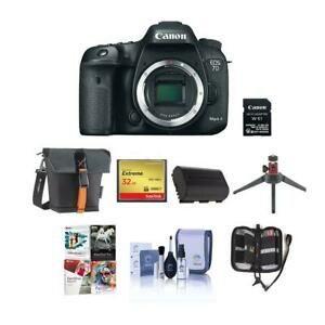 Canon EOS 7D Mark II DSLR Camera Body with WiFi Adapter Kit WFree Pc Acc Bundle