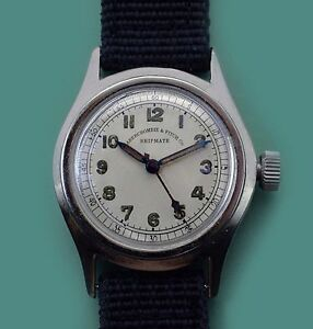 Vintage 1940's Abercrombie & Fitch SHIPMATE Military Navy  Watch Original Dial