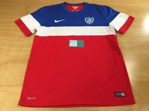 Nike Dri-Fit USA Men's National Soccer Team Short Sleeve Jersey M Red White Blue