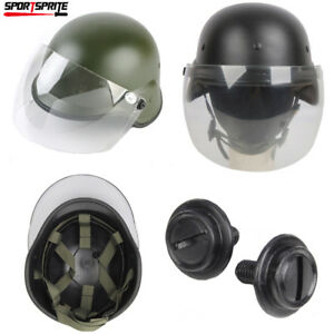 Airsoft M88 PASGT Kelver Helmet with Clear Visor Tactical Outdoor Helmet