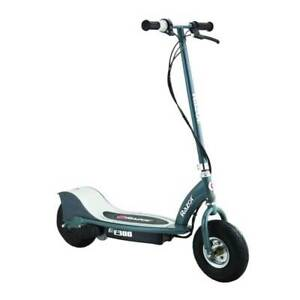 Razor E300 Electric Motorized Rechargeable Scooter w Top Speed of 15 MPH Gray