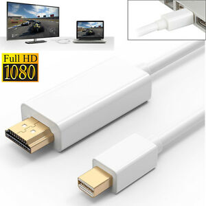 6FT Mini Display Thunderbolt to HDMI Cable Adapter For SurfaceMacBook Pro iMac
