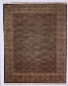 Kalaty Black Traditional-European Crosshatch Petals Area Rug Bordered AG-330