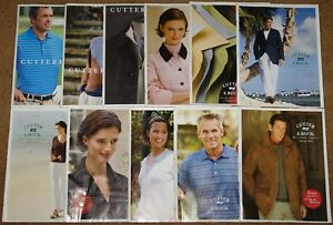 2006-2008 CUTTER & BUCK FASHION CATALOG MAILER LOT OF 11 DIFFERENT