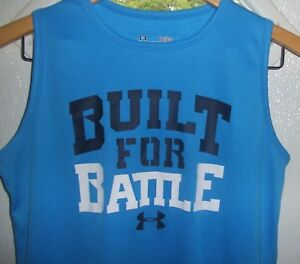 BOY'S YOUTH UNDER ARMOUR SLEEVELESS HEAT GEAR PULLOVER SHIRT SIZE L