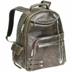 Backpack Rebel Distressed Leather - Spacious Compartment Padded Laptop Sleeve