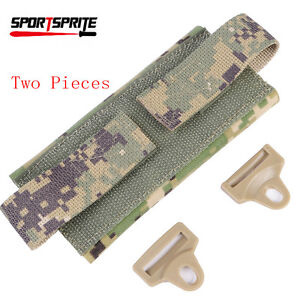 2 Pics Paintball Counterweight Helmet Accessory Pouch Bag Tactical Fast Rear