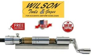 L.E. Wilson Micrometer Case Trimmer and Holder Stainless Steel 50 BMG CTS-50MICU