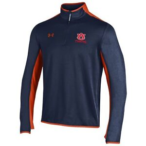 Auburn Tigers Under Armour Navy Survival 14 Zip Loose ColdGear Pullover