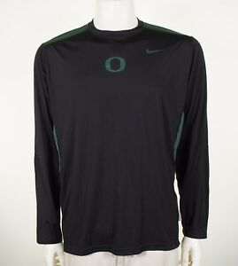 Nike Team Dri-Fit Oregon Ducks Black Athletic Training Shirt Sz Large