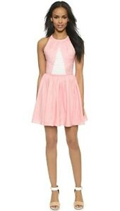 NEW $295 Designer Timo Weiland Candice Skater Dress in Blush Pink sz 4  S