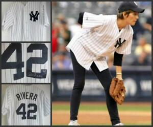 NY Yankees Mariano Rivera  #42 Shirt Lucie Arnaz Signed Video Lucille Baseball