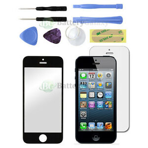 NEW Black Glass Replacement+LCD Screen Protector for Apple iPhone 5 SE 5S 5G 5C