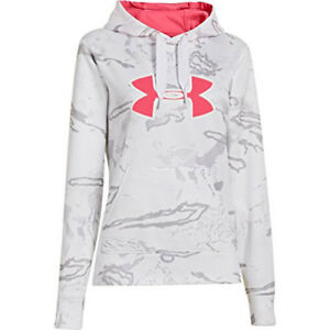 Under Armour UA Camo Big Logo Hoody - Womens Snow Reaper Camo  White  TAX FREE