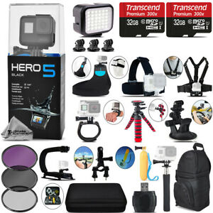 GoPro Hero5 Black 4K Camera + Filter Kit UV-CPL-FLD Set + Backpack - 64GB Kit