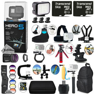 GoPro Hero5 Black 4K Camera + 9PC Filter Kit Set + Backpack -128GB Bundle Kit
