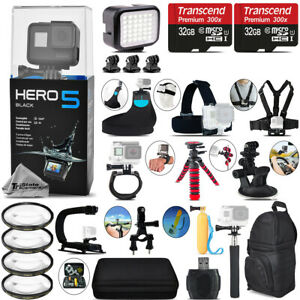 GoPro Hero5 Black 4K Camera + 4PC Macro Filter Kit Set + Backpack - 64GB Kit