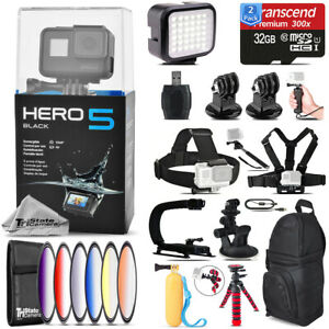 GoPro Hero5 Black 4K Camera + 6PC Graduated Filter + Backpack - 64GB Bundle Kit