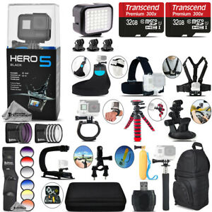 GoPro Hero5 Black 4K Camera + 9PC Filter Kit Set Set + Backpack - 64GB Kit